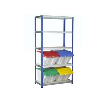 Eco-Rax Multi-Functional Container Kits w/ 5 Shelves & 4 Bins
