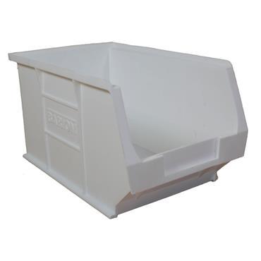 Topstore White Antibacterial Semi Open fronted Bin