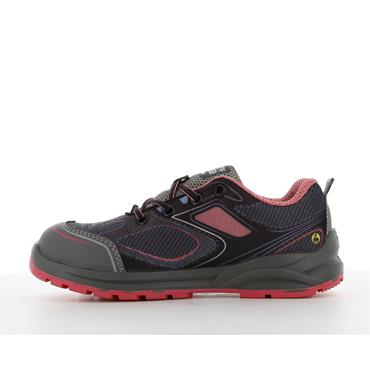 Safety Jogger CADOR S1P Ladies Sporty low-cut ESD safety shoe, Pink