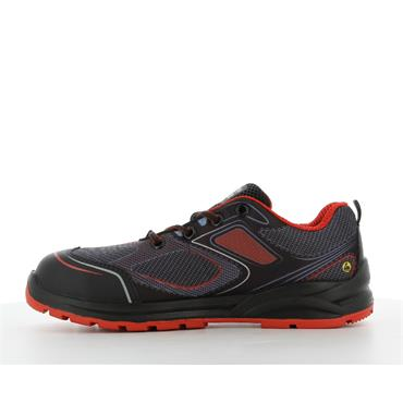 Safety Jogger CADOR S1P Sporty low-cut ESD safety shoe, Red
