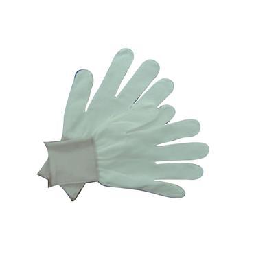 White Nylon Knitted Glove