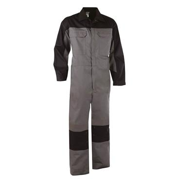 Dassy NIORT Two-Tone Multinorm Overall with Knee Pockets, Grey/Black