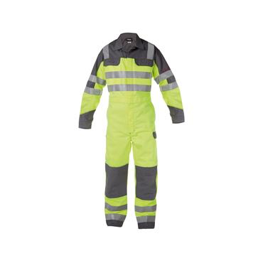 Dassy, Spencer Hi Vis Overall w/ knee pockets Yellow/Grey