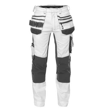 DASSY 201023 Flux Painters Trousers, Stretch, Holster & Knee Pockets, White