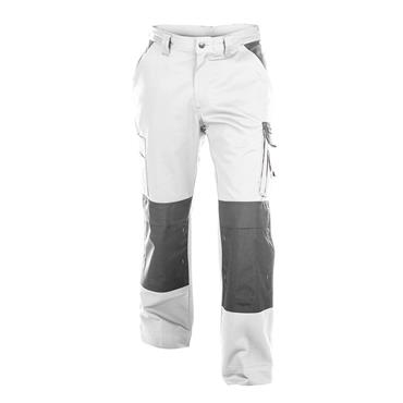 Dassy BOSTON Two-Tone Painters/Decorators Work Trousers, White/Grey