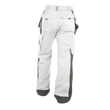 Dassy SEATTLE Painters Work Trousers - White/Grey