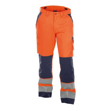 DASSY Buffalo (200431) High visibility work trousers with knee pockets, Orange/Navy