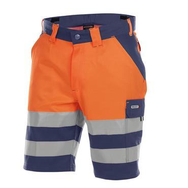 DASSY Venna (250030) High visibility work shorts Orange/Navy
