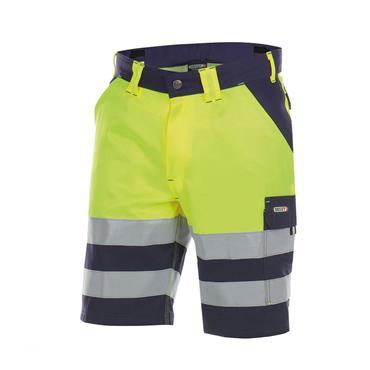 DASSY Venna (250030) High visibility work shorts Yellow/Navy