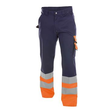 Dassy OMAHA High Visibility Work Trouser, Orange/Navy