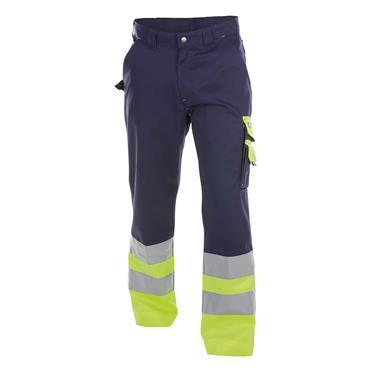 Dassy OMAHA High Visibility Work Trouser, Yellow/Navy