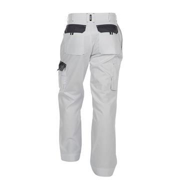 Dassy Nashville Two-Tone Painter/Decorators Work Trousers, White/Grey