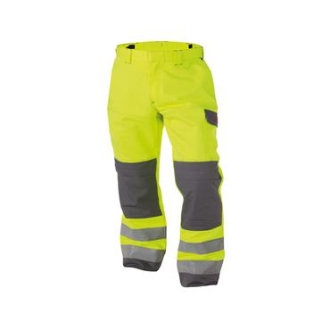 Dassy Manchester (200819), Multinorm Hi Vis Work Trousers, Yellow/ Grey