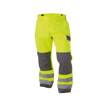 Dassy Manchester (200819), Multinorm Hi Vis Work Trousers, Yellow/ Grey