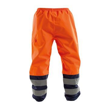 Dassy, Sola, Waterproof Work Trousers, Orange/ Navy