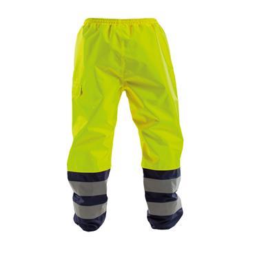 Dassy, Sola, Waterproof Work Trousers, Yellow/ Navy