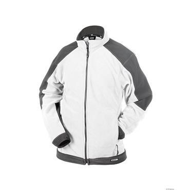 Dassy KAZAN Two-Tone Painter/Decorators Fleece Jacket, White/Grey