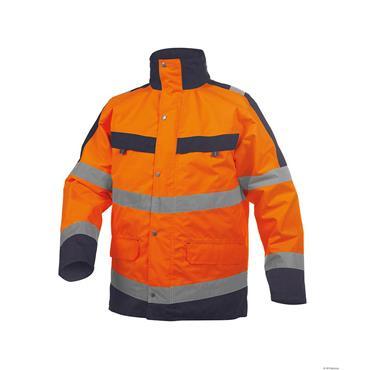Dassy ATLANTIS High Visibility Orange/Navy Waterproof Parka Jacket