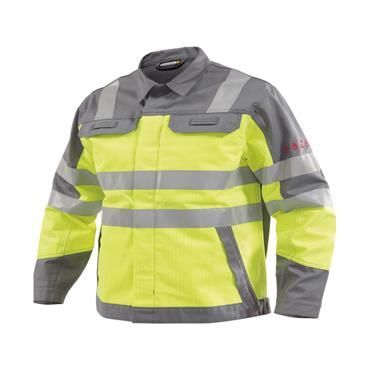 Dassy, Franklin Hi Vis Work Jacket, Yellow/Grey