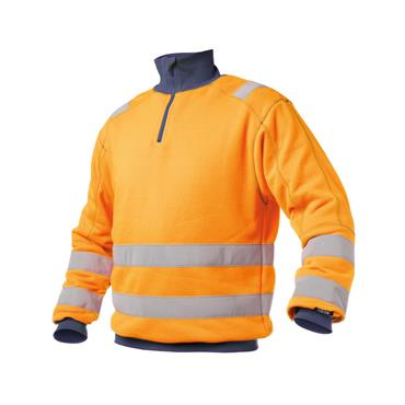 Dassy, Denver High visibility sweatshirt, Orange/Navy