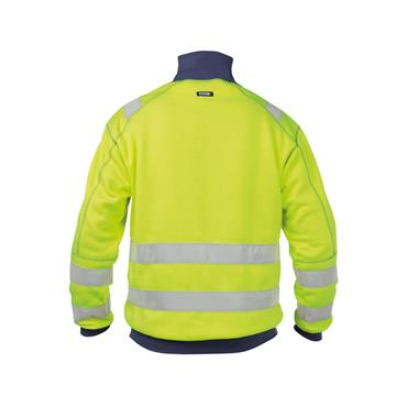Dassy Denver High visibility sweatshirt, Yellow/Navy