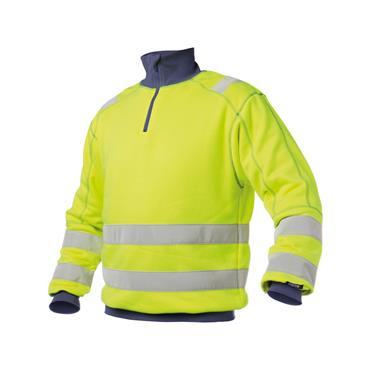 Dassy Denver High visibility sweatshirt, Yellow/Navy