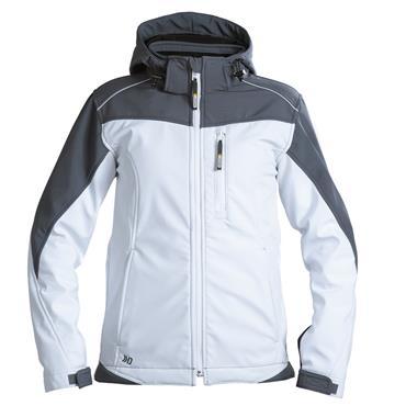 DASSY Jakarta Women White (300435) Two-tone softshell jacket