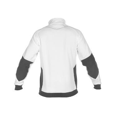 DASSY Velox 300450 Two-Tone Sweatshirt, White/Grey