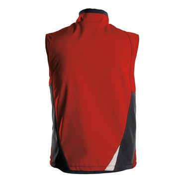 DASSY Fusion (350111) Red Softshell body warmer