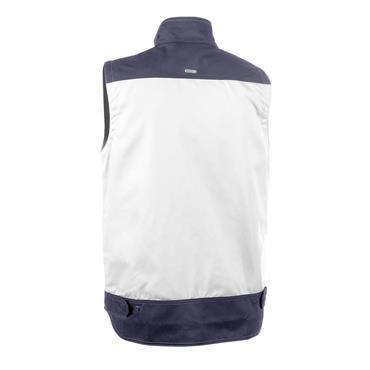 Dassy FARO Two-Tone Sleeveless Painter/Decorators Work Jacket, White/Grey