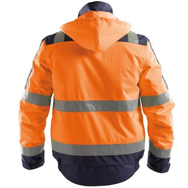 Dassy Lima (500120), High visibility Winter Jacket, Orange/Navy