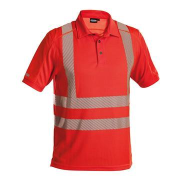 DASSY Brandon (710024) Red High visibility UV polo shirt