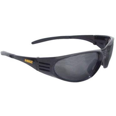 Dewalt  Ventilator Black Smoke Lens Safety Glasses