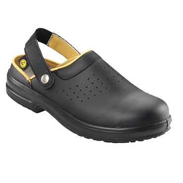 ESD Airing Black Clog Steel-Toe