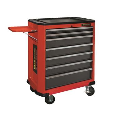 Ega Master 7 Drawer Roller Cabinet Including Lateral Tool Storage