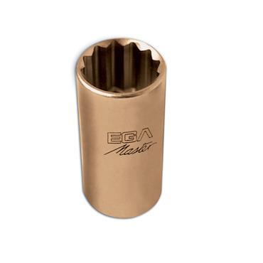 "Ega Master Non-Sparking Long Socket Wrench 1/4"" Drive, Imperial"