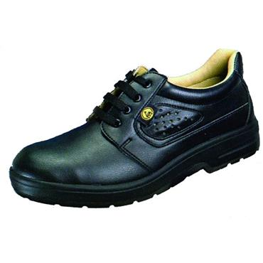 ESD Black Derby Non Perforated Shoe