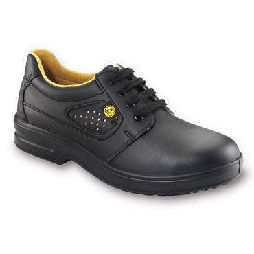 ESD Derby Shoe Laced Black, Steel Toe