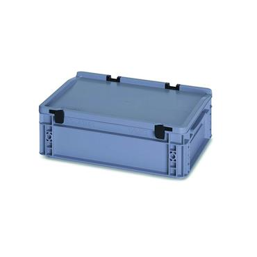 Auer Packaging Euro Container with Hinged Lid