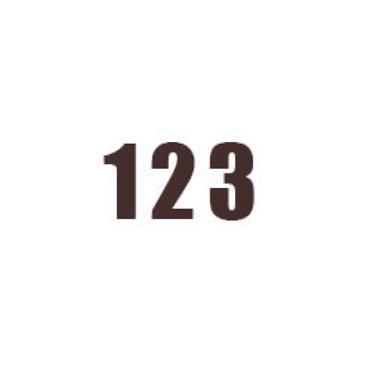 Durastripe X-Treme DS-NUM Number, Brown
