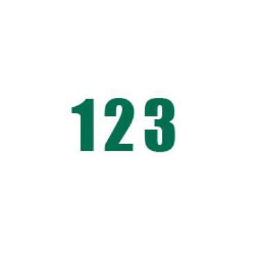 Durastripe X-Treme DS-NUM Number, Green