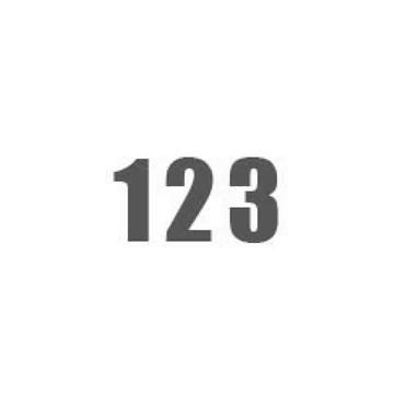 Durastripe X-Treme DS-NUM Number, Grey