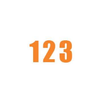 Durastripe X-Treme DS-NUM Number, Orange