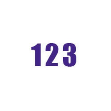 Durastripe X-Treme DS-NUM Number, Purple