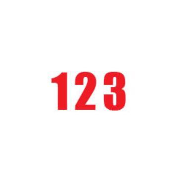 Durastripe X-Treme DS-NUM Number, Red