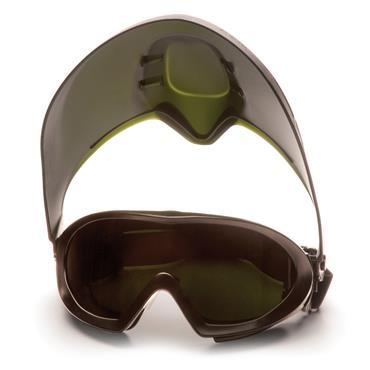 Pyramex Capstone Shield, Welding, IR5 lens and faceshield, Anti-Fog
