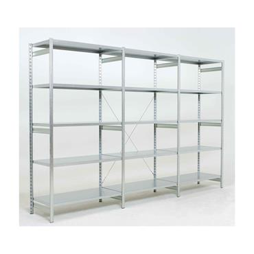 Epsilon, Galvanised Open Shelving, 5-Shelf