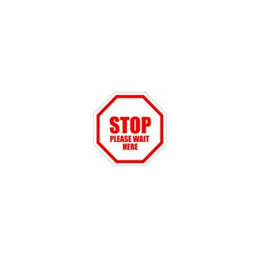 Social Distancing Floor & Wall Sign Stop Please wait here