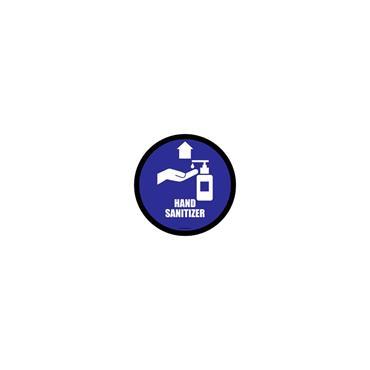 Social Distancing Floor & Wall Sign Hand Sanitizer Blue
