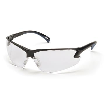Pyramex Venture 3 Safety Glasses, Clear H2MAX AF